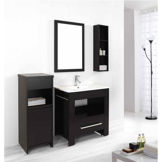 """Virtu Masselin 32"""" Single Sink Bathroom Vanity Set, Espresso"""