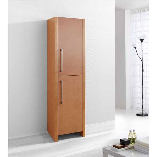 "Virtu Delano 16"" Vanity Side Linen Cabinet, Chestnut"
