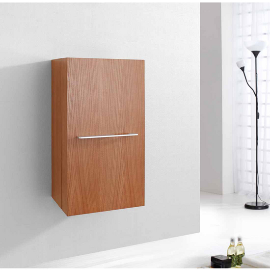 "Virtu Carvell 16"" Vanity Side Linen Cabinet, Chestnut"