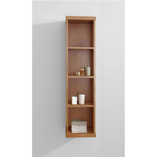 "Virtu Hewitt 12"" Vanity Side Linen Cabinet, Chestnut"
