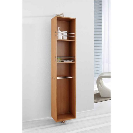 "Virtu Marcel 14"" Vanity Side Linen Cabinet, Chestnut"