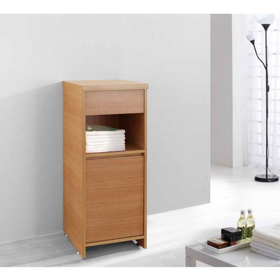 "Virtu Raynard 16"" Vanity Side Linen Cabinet, Chestnut"