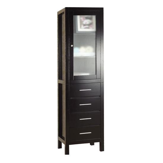 "Virtu Wellmont 20"" Side Cabinet, Espresso"