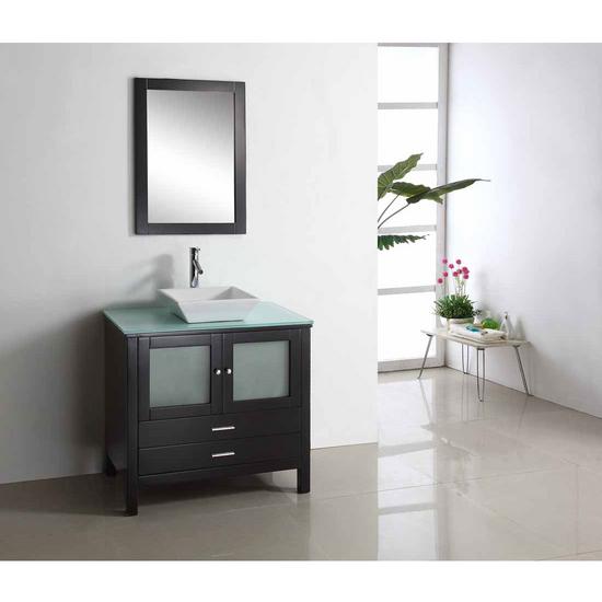 """Virtu Brentford 36"""" Single Sink Bathroom Vanity, Espresso"""