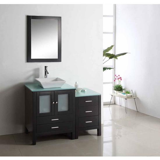 """Virtu Brentford 46"""" Single Sink Bathroom Vanity, Espresso"""