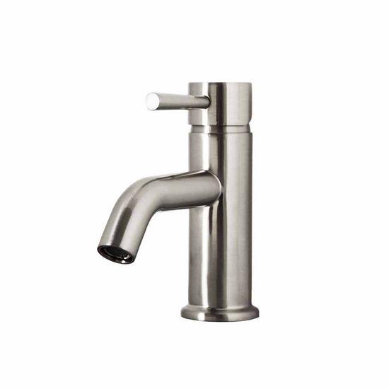 Brizo Single Hole Bathroom Faucet with Brushed Nickel or Polished Chrome Finish by Virtu USA | KitchenSource.com
