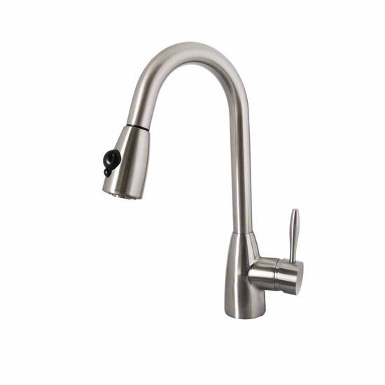 Virtu Neptune Kitchen Faucet in Brushed Nickel Finish