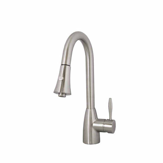 Virtu Varuna Kitchen Faucet in Brushed Nickel Finish