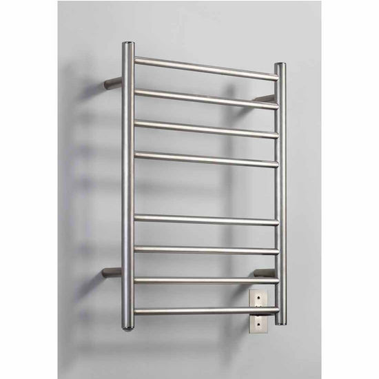 Virtu Koze Collection Towel Warmer, Brushed Nickel, 20-9/10''W x 4-2/5''D x 27-3/5''H, 65W Watts, 0.54 Amps