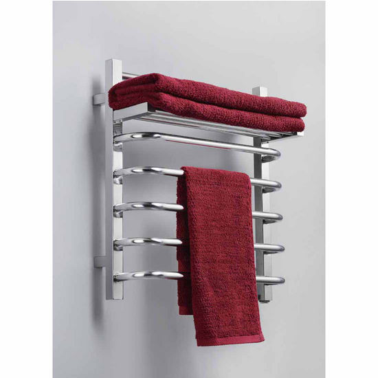 Virtu Koze Collection Towel Warmer, Polished Chrome, 20-3/10''W x 8-3/10''D x 22-2/5''H, 65W Watts, 0.54 Amps