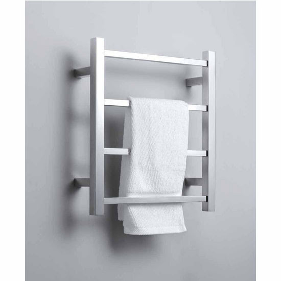 Virtu Koze Collection Towel Warmer, Brushed Nickel, 17-7/10''W x 4-3/10''D x 19-7/10''H, 35W Watts, 0.29 Amps