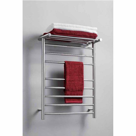 Virtu Koze Collection Towel Warmer, Polished Chrome, 23-3/5''W x 9-1/2''D x 39-1/10''H, 93W Watts, 0.78 Amps
