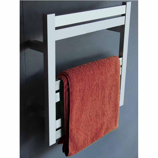 Virtu Koze Collection Towel Warmer, Brushed Nickel, 20-1/2''W x 4-3/10''D x 20-9/10''H, 80W Watts, 0.67 Amps