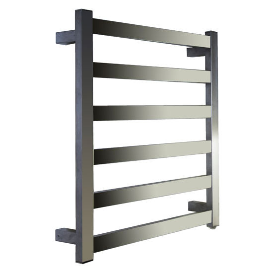 Virtu Koze Collection Towel Warmer, Brushed Nickel, 23-3/5''W x 3-9/10''D x 25-1/5''H, 90W Watts, 0.75 Amps