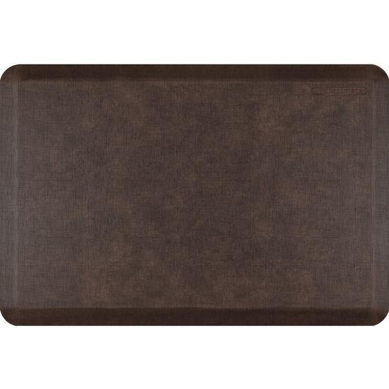 Linen Mat in Linen Motif Antique Dark, 3x2