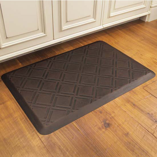 Moire Motif Mat in Antique Dark, 3x2