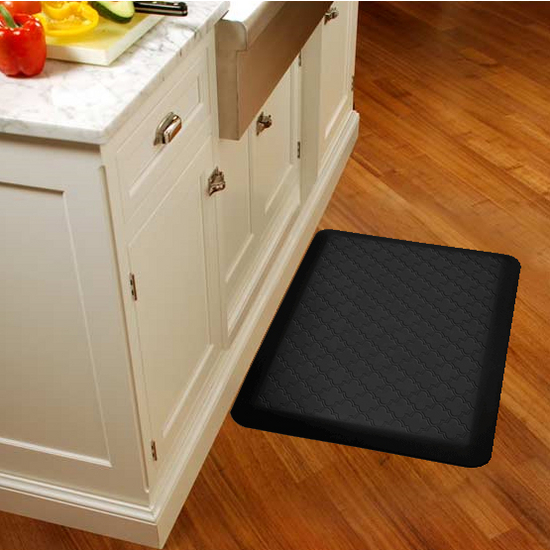 WellnessMats 2011 Motif Collection - Trellis Wellness Mat, Black