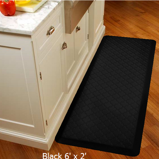Wellness Mats 2011 Motif Collection - Trellis Wellness Mat, Black
