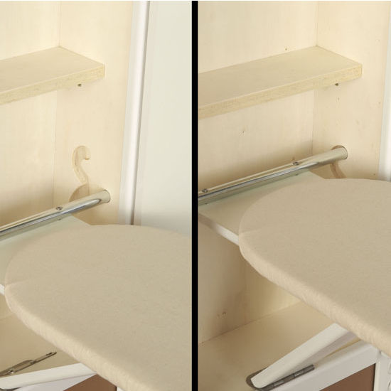 Stowaway Inwall Swivel Ironing Board, Adjustable W/ One