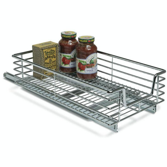 22 Birch Pull Out Shelf Kit One Shelf 1 4 Bottom: Kitchen Base Cabinet 11-1/2'' Wide Pull-Out Organizer By