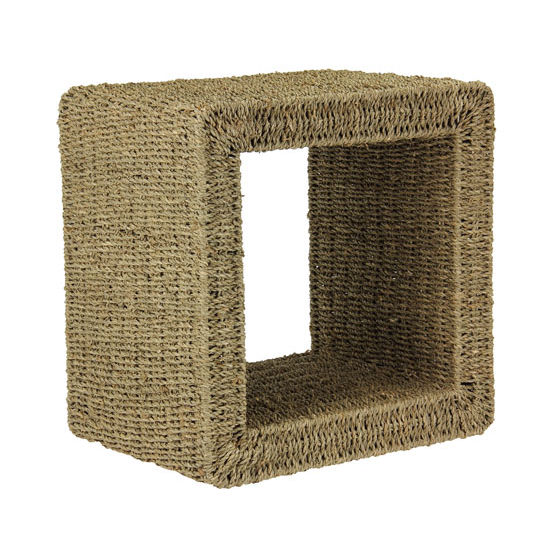 Household Essentials Mid Size End Table/Banana Leaf Natural in Seagrass