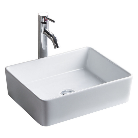 Wells Sinkware China Luxe Collection- Simplex White Above Counter Bathroom Sink