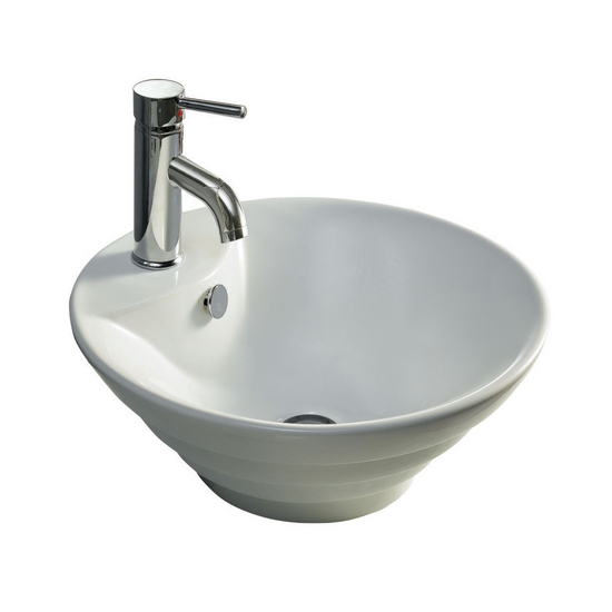 Wells Sinkware China Luxe Collection- Terrace White Above Counter Bathroom Sink