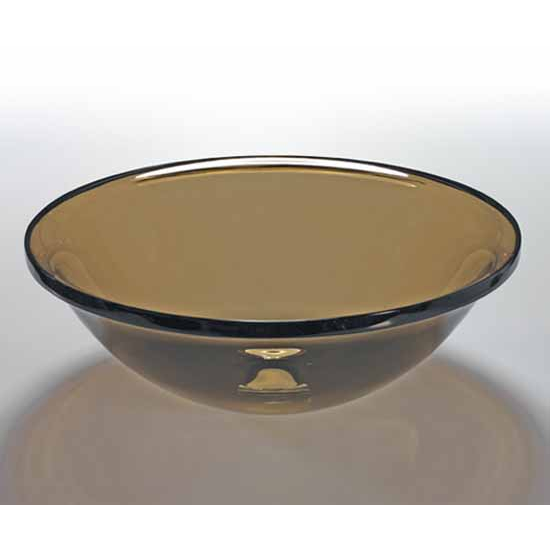 Wells sinkware art glass vessels sheer color sepia above counter partial recess bathroom sink for Above counter bathroom sinks glass