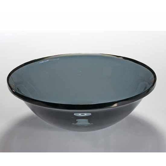 Wells Sinkware Art Glass Vessels - Sheer Color, Air Force Blue Above Counter/ Partial Recess Bathroom Sink