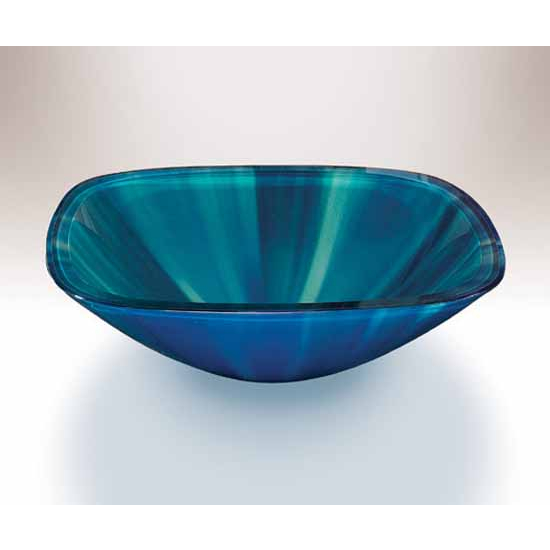 Wells Sinkware Art Glass Vessels - Color Energy, Northern Light Above Counter Bathroom Sink