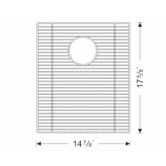 Wells Sinkware Stainless Steel Sink Bottom Grid