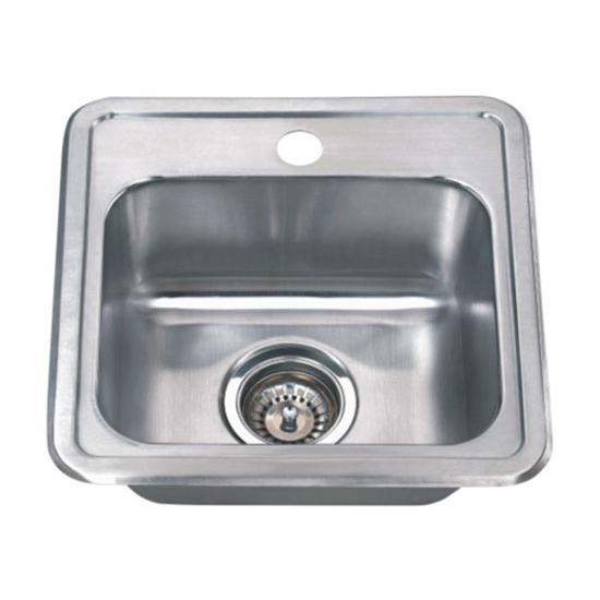 Wells Sinkware WL-CMT1515-6 Stainless Steel Single Bowl Topmount ...