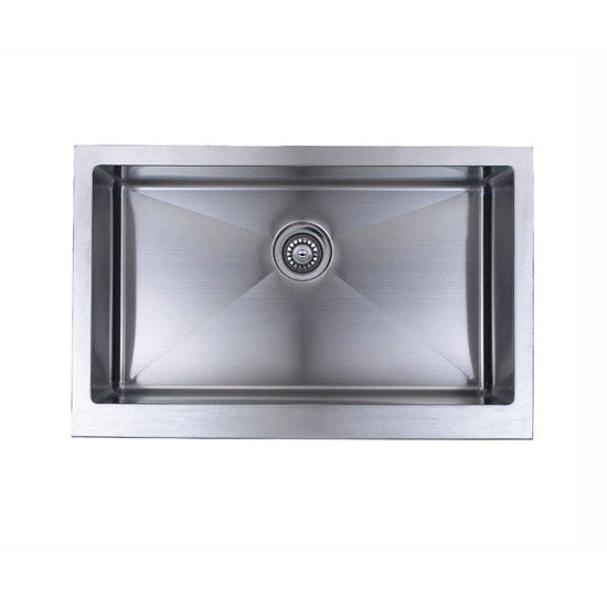 Wells Sinkware The Chef's Collection Stainless Steel Single Bowl Undermount Kitchen Sink