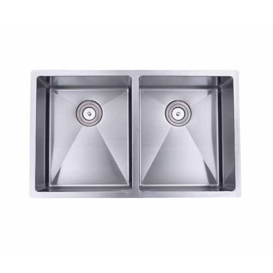 Wells Sinkware The Chef's Collection Stainless Steel Double Bowl Undermount Kitchen Sink