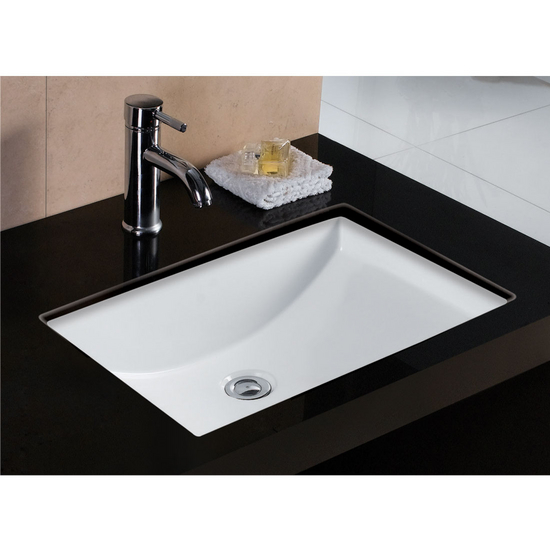 Wells Sinkware Rhythm Series White China Undermount Bathroom Sink
