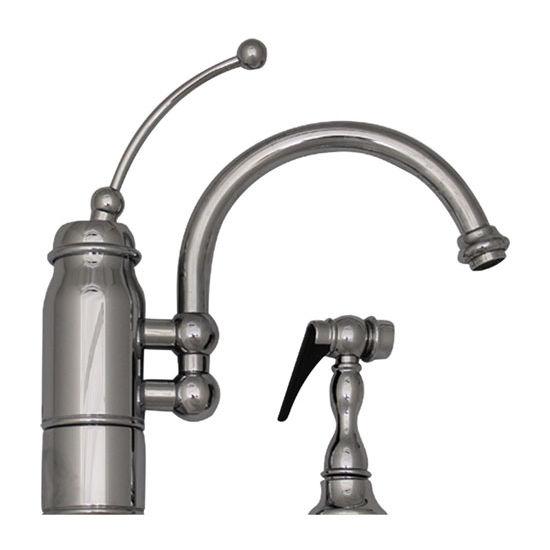 Whitehaus New Horizon Kitchen Faucet w/ Side Spray