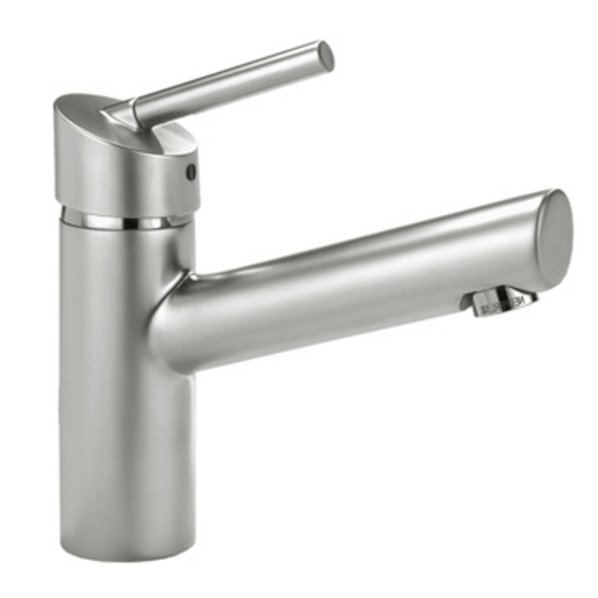 Whitehaus Centurion Single Hole/Lever Bathroom Faucet with Small Pop-Up Waste in Stainless Steel