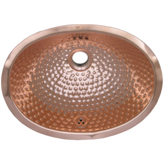 Decorative copper sink hammered copper undermount for Hammered copper undermount bathroom sink