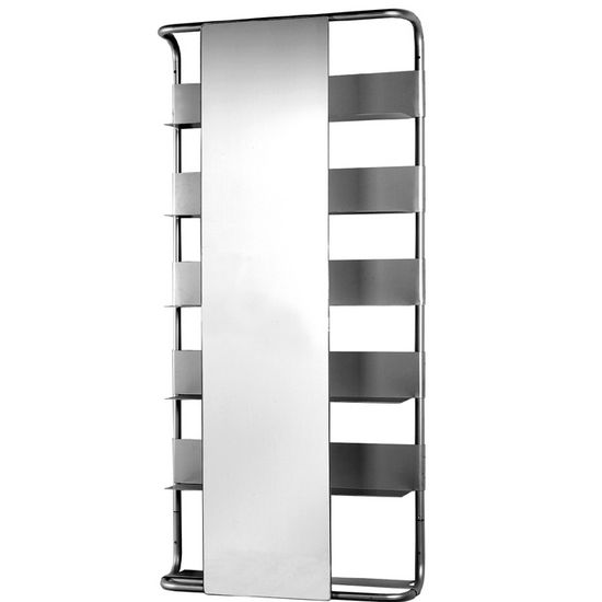Aeri Large Rectangular Bathroom Mirror, Aluminum