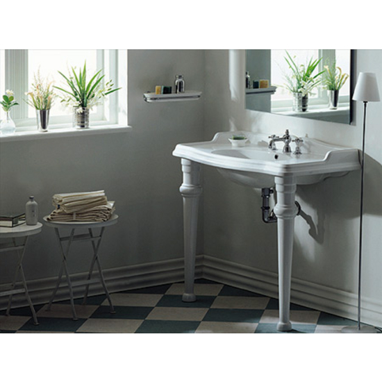 Isabella Collection Rectangular Bathroom Console W Oval Bowl Sink
