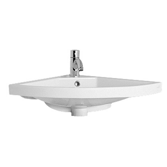 Whitehaus Corner Wall Mounted China Bathroom Basin