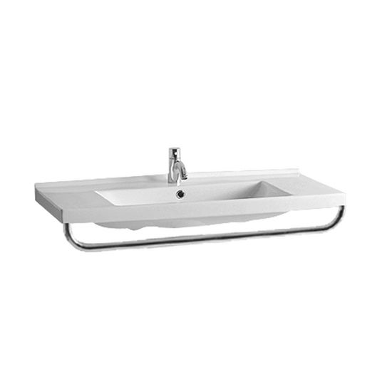 "Whitehaus Polished Chrome Front Towel Bar 37-3/4""W x 17-5/8""D"