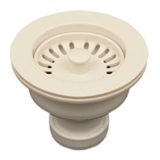 Whitehaus - Basket Strainer with Plunger Mechanism for Whitehaus Sinks