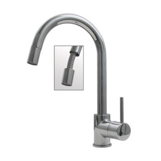 Gooseneck Faucet Kitchen sink faucets Kitchensource.com