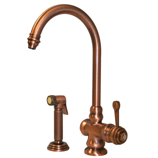 Whitehaus - Single Hole Faucet With Side Spray