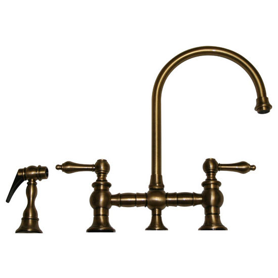Whitehaus Vintage III Bridge Faucet w/ Side Spray