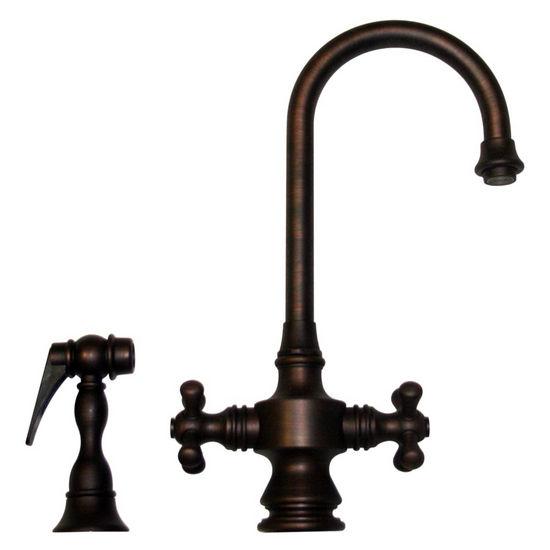 Whitehaus Vintage III Single Hole Dual Cross Handle Prep Faucet