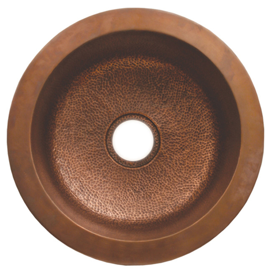 Whitehaus Copperhaus Round Drop-In/ Undermount Sink