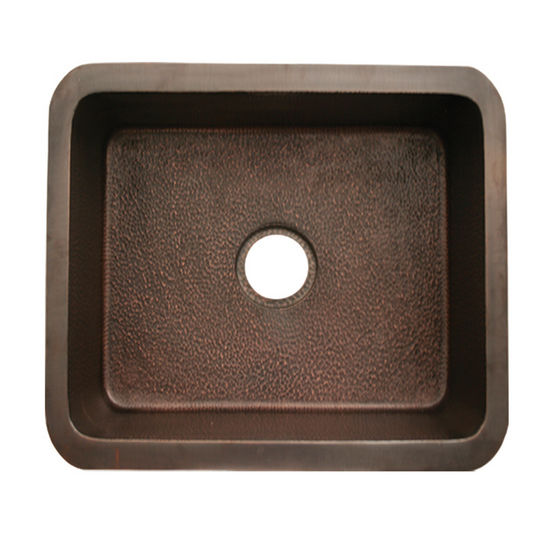 Whitehaus Copperhaus Rectangular Undermount Sink w/ Hammered Texture