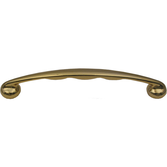 Whitehaus Solid Brass Curved Pull Handle with Grip Notches